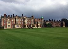 Sandringham House in Norfolk, England. Is the private residence of Queen Elizabeth II stock photos