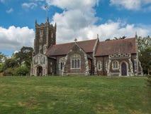 Full view of the church on the sandringham estate in Norfolk, Ma. Sandringham, Norfolk, UK - April 26, 2014: full view of Mary Magdalene church on the stock image