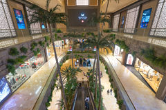 Sands Cotai Central. MACAO, CHINA - FEBRUARY 16, 2016: inside of Shoppes at Sands Cotai Centra. Shoppes at Sands Cotai Central is a large shopping mall in Macao Royalty Free Stock Images