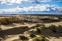 Sands of the Curonian Spit Royalty Free Stock Photos