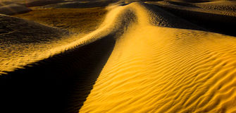 Sands and dunes of Sahara desert. Background. Texture Royalty Free Stock Image