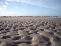 Sands formations. In the Liepaja's beach royalty free stock photos
