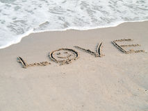 Sands of love. Royalty Free Stock Photography