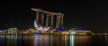 The Sands at Marina Bay Casino and Resort in Singapore Royalty Free Stock Photo
