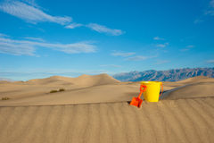 Sands Needs Big Bucket Royalty Free Stock Photo