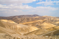 Sands of scorching Judean Desert, Israel Royalty Free Stock Images