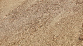 Sands on slope falling down. Close-up view background stock video footage