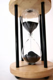 Sands of time. Close up of an hourglass stock photo
