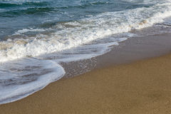 Sands and waves at black sea cost of Sile in Istanbul Stock Images