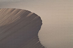 Sandscape. Sand dune from boa vista, cape verde royalty free stock photo