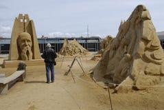 Sandsculpture节日 免版税库存图片