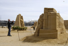 Sandsculpture festival Royalty Free Stock Images