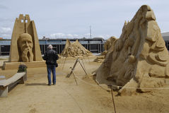 Sandsculpture festival Royalty Free Stock Image