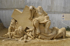 Sandsculpture festival Royalty Free Stock Photo