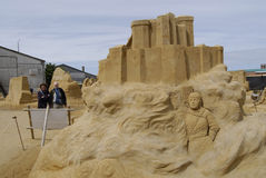 Sandsculpture festival Stock Images