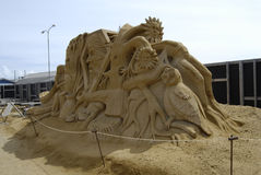 Sandsculpture festival Royalty Free Stock Photography