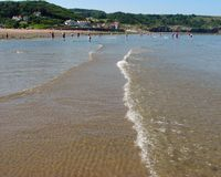 Sandsend beach Royalty Free Stock Images