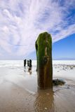 Sandsend Groins royalty free stock image