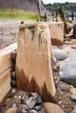 Sandsend vågbrytare - vågbrytare - Sandsend - North Yorkshire - UK Arkivfoton