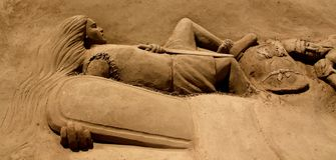 Sandskulptur Royaltyfri Foto