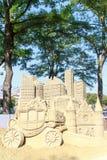 Sandskulptur av den Haag staden Fotografering för Bildbyråer