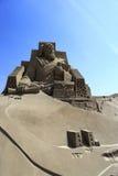 Sandskulptur av Marco Polo Arkivfoto