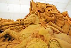 Sandskulptur des Ritters Stockbilder