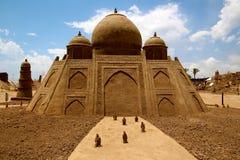 Sandskulptur Taj Mahal Royaltyfri Bild