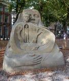 Sandskulptur von Den Haag die Niederlande Lizenzfreie Stockfotos