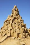 Sandskulpturfestival denmark 2012 Arkivbild