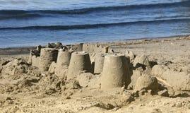 Sandslott på stranden Fotografering för Bildbyråer