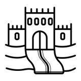 Sandslottsymbolsvektor royaltyfri illustrationer