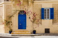 Sandsone architecture of Lija Malta. Beautiful sandstone architecture cistyscape of Lija on Malta island. Beautiful landscape in south Europe Royalty Free Stock Photo