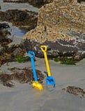 sandspadar för barn s royaltyfri bild