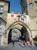 Sandstein-Bögen, alte Stadt Prags Stockfotos