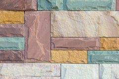 Sandstein-Backsteinmauer lizenzfreie stockfotografie