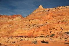 Sandstein-Berg an Kojote Buttes lizenzfreie stockfotos