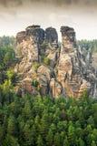 Sandstein-Berge in Sachsen Lizenzfreie Stockfotos
