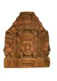 Sandstein Carvingsgesicht stockfoto