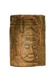 Sandstein Carvingsgesicht woman1 Stockbild