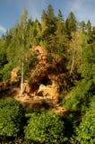 Sandstein caverned Felsen 1082 Stockbilder