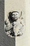 Sandstein, der Jäger schnitzt Stockfoto