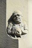 Sandstein, der Mönch schnitzt Lizenzfreie Stockfotografie