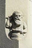 Sandstein, der Schmied schnitzt Lizenzfreie Stockbilder