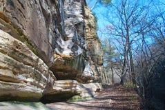 Sandstein-Klippen in verhungertem Felsen-Park Stockfotografie