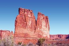Sandstein-Monolith Stockfoto