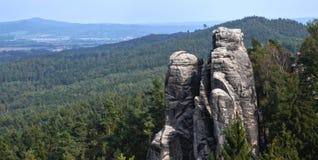 Sandstein schaukelt (Prachovské-skà ¡ LY) Lizenzfreies Stockfoto