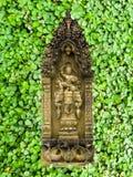 Sandstein und grüner Kleehintergrund Stockbilder