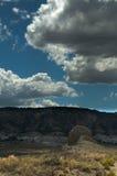 Sandstein und Grasland, trostlose Schönheit Stockbild
