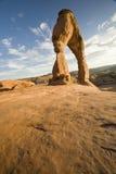 Sandstein wölbt Blau Stockfoto